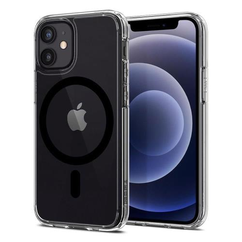 TPU & PC Back Cover Case Spigen Ultra Hybrid Mag Magsafe Apple iPhone 12/ 12 Pro Clear-Black
