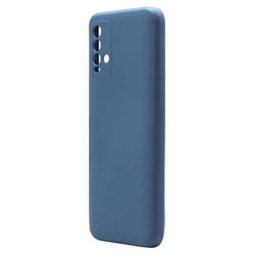 Θήκη Liquid Silicon inos Xiaomi Redmi 9T L-Cover Μπλε Ραφ