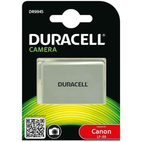 Camera Battery Duracell DR9945 for Canon LP-E8 7.4V 1020mAh (1 pc)