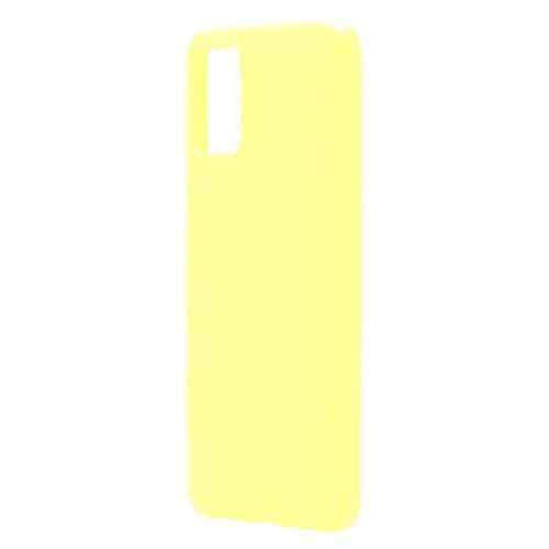 Θήκη Liquid Silicon inos Samsung A025F Galaxy A02s L-Cover Κίτρινο