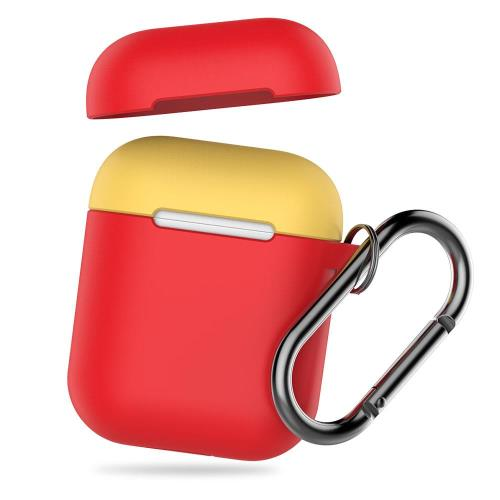 Silicon Case AhaStyle PT46 Apple AirPods Tone with Hook Red-Yellow