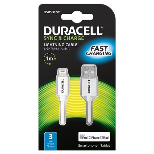 USB 3.0 Cable Duracell USB A to USB C 1m White