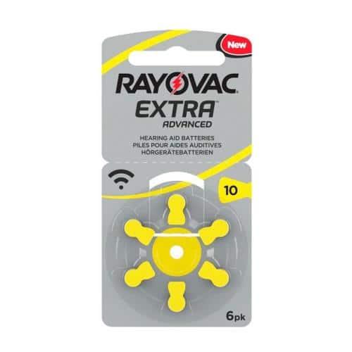 Μπαταρία Ακουστικών Βαρηκοΐας Rayovac Extra Advanced 10 (6 τεμ.)