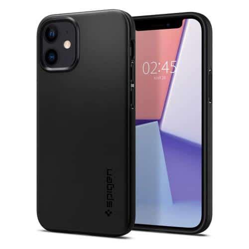 TPU Case Spigen Thin Fit Apple iPhone 12 mini Black