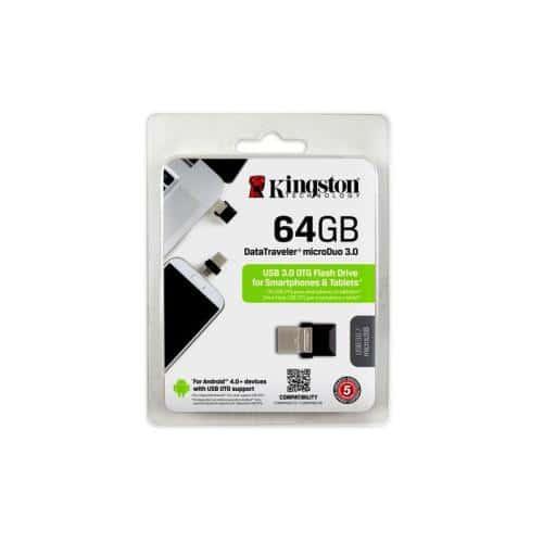 USB 3.0 Flash Disk Kingston DT Micro Duo 64GB Μαύρο