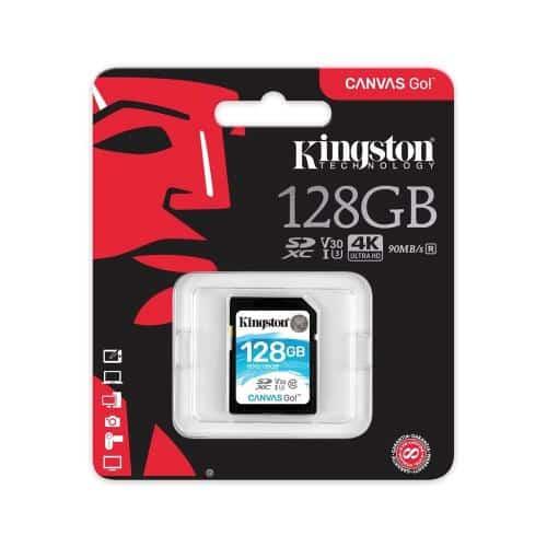 Κάρτα μνήμης SDXC C10 UHS-I U3 Kingston Canvas Go 90MB/s 128Gb