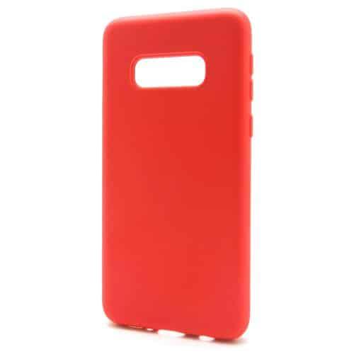 Liquid Silicon inos Samsung G970F Galaxy S10e L-Cover Hot Red