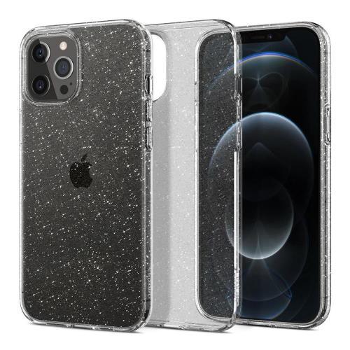 TPU Spigen Liquid Crystal Apple iPhone 12/ 12 Pro Glitter Crystal Clear