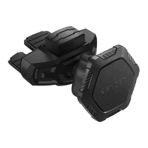 Universal CD Slot Car Holder Magnetic Spigen Kuel QS24 Black