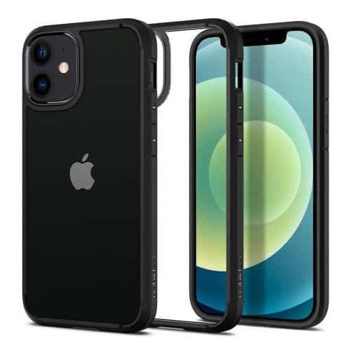 TPU & PC Back Cover Case Spigen Ultra Hybrid Apple iPhone 12 mini Matte Black
