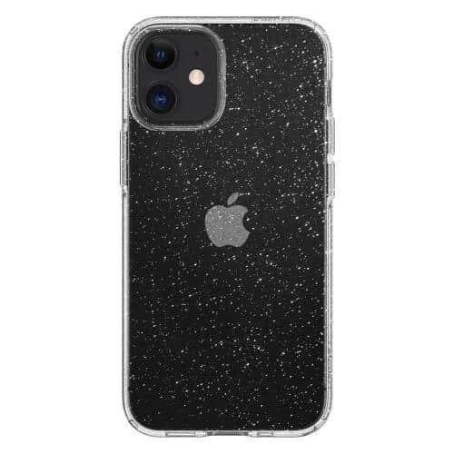 TPU Spigen Liquid Crystal Glitter Apple iPhone 12 mini Clear