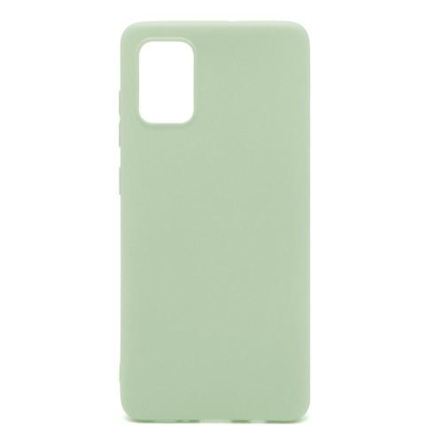 Soft TPU inos Samsung A715F Galaxy A71 S-Cover Olive Green