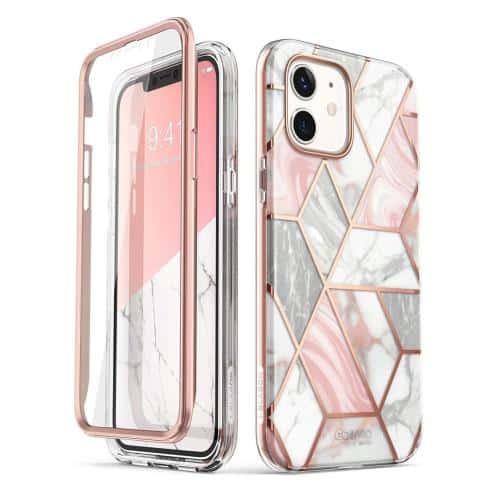 Θήκη Full Body Rugged Supcase Cosmo Apple iPhone 12 mini Marble