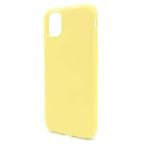 Θήκη Liquid Silicon inos Apple iPhone 11 L-Cover Κίτρινο