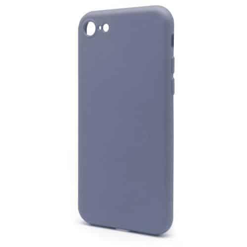 Θήκη Liquid Silicon inos Apple iPhone 8/ iPhone SE (2020) L-Cover Γκρι-Μπλε