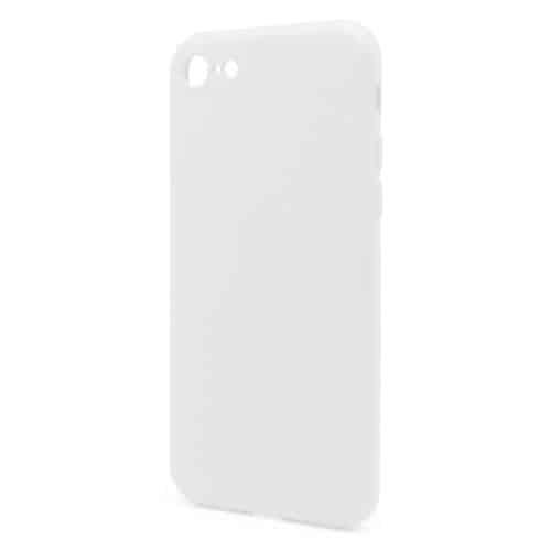 Θήκη Liquid Silicon inos Apple iPhone 8/ iPhone SE (2020) L-Cover Λευκό