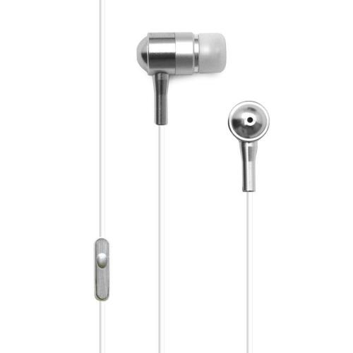 Hands Free Stereo Crystal Audio 3.5mm White/Silver (Bulk)