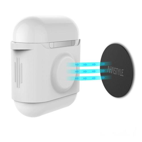 Protective Cover AhaStyle PT09 Apple AirPods Magnetic White