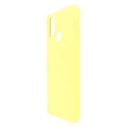 Θήκη Liquid Silicon inos Samsung A217F Galaxy A21s L-Cover Κίτρινο