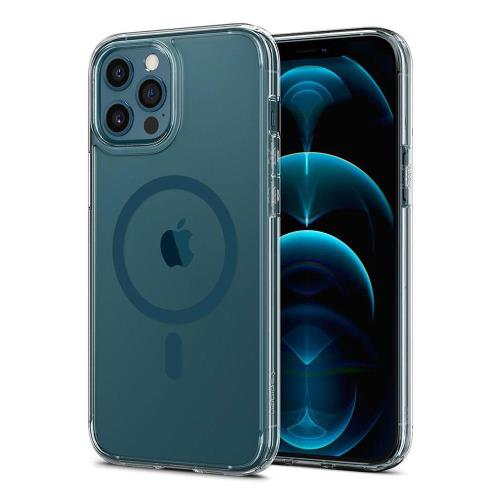 TPU & PC Back Cover Case Spigen Ultra Hybrid Mag Magsafe Apple iPhone 12 Pro Max Clear-Pacific Blue