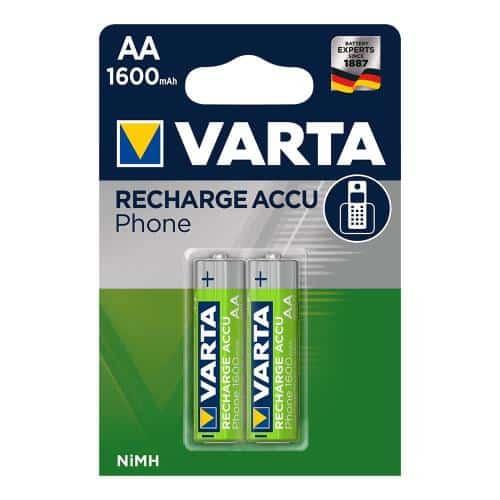 Μπαταρία Επαναφορτιζόμενη Varta AA 1600mAh NiMH Phone Power (2 τεμ.)