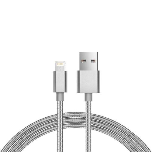 USB 2.0 Spring Cable inos USB A to Lightning 1m Silver