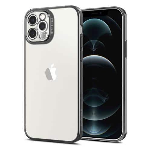 Θήκη Σιλικόνης Spigen Optik Crystal Apple iPhone 12 Pro Γκρι
