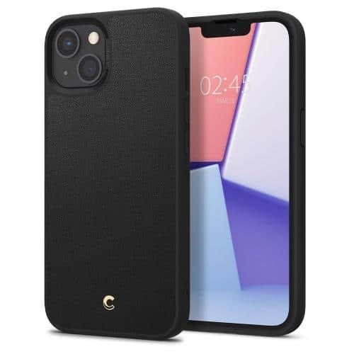 Θήκη Soft TPU & PC Spigen Cyrill Leather Brick Apple iPhone 13 Μαύρο