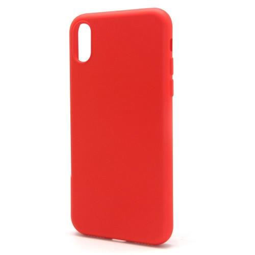 Liquid Silicon inos Apple iPhone XS Max L-Cover Hot Red