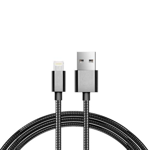 USB 2.0 Spring Cable inos USB A to Lightning 1m Black