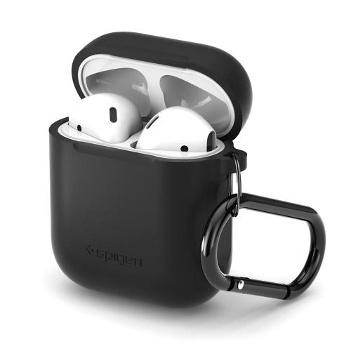 Silicon Fit Case Spigen Apple AirPods with Hook Black