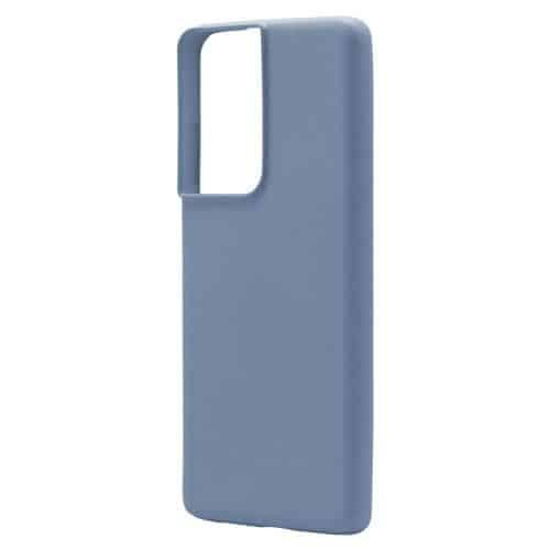 Θήκη Liquid Silicon inos Samsung G998B Galaxy S21 Ultra 5G L-Cover Γκρι-Μπλε
