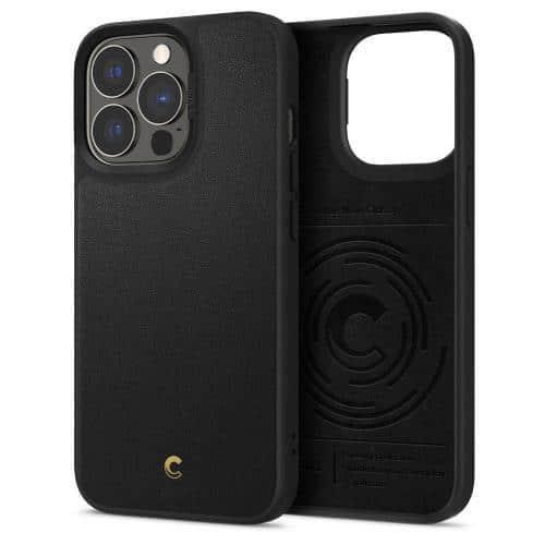 Θήκη Soft TPU & PC Spigen Cyrill Leather Brick Apple iPhone 13 Pro Μαύρο