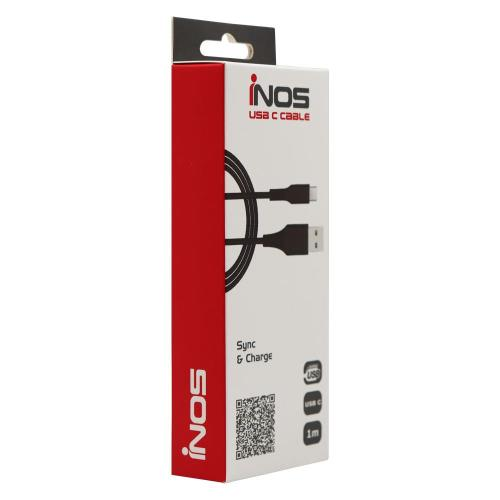 USB 2.0 Cable inos USB A to USB C 1m Black