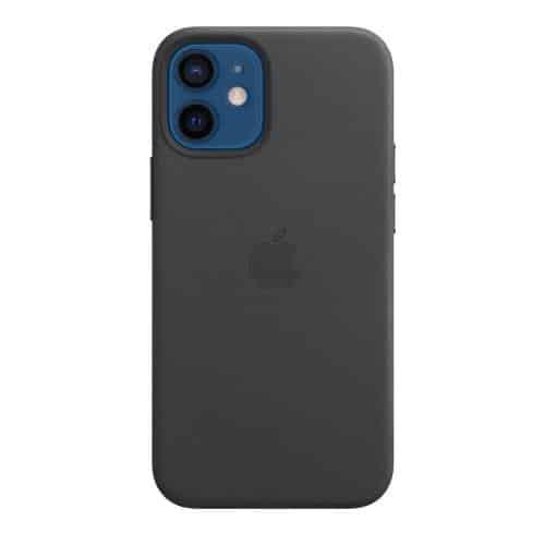 Leather Case with MagSafe Apple MHKA3 iPhone 12 mini Black