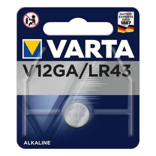 Battery Alkaline Varta V12GA LR43 1.5V (1 pc)