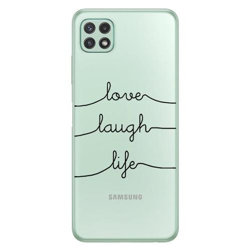 TPU inos Samsung A226B Galaxy A22 5G Art Theme Love-Laugh-Life