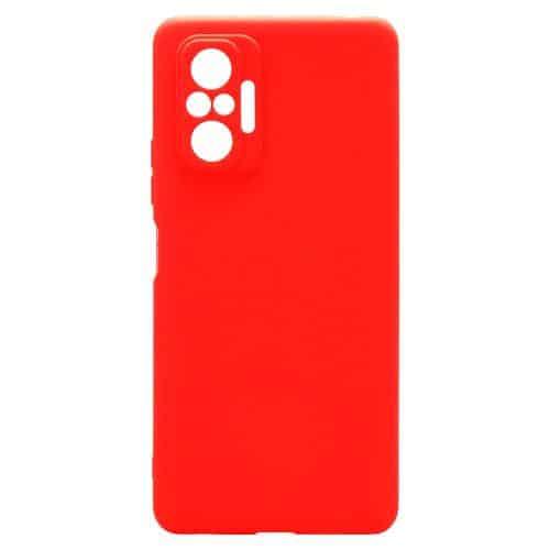 Θήκη Soft TPU inos Xiaomi Redmi Note 10 Pro S-Cover Κόκκινο