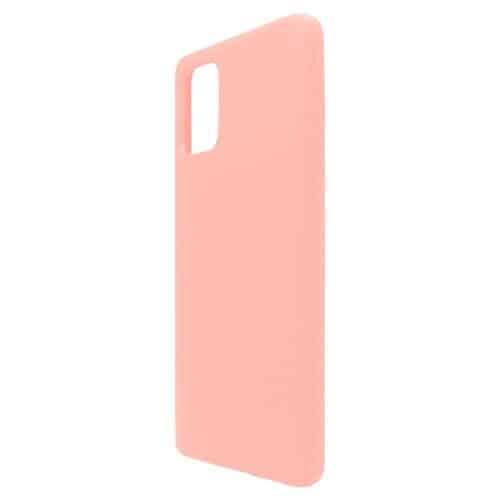Liquid Silicon inos Samsung A715F Galaxy A71 L-Cover Salmon Pink