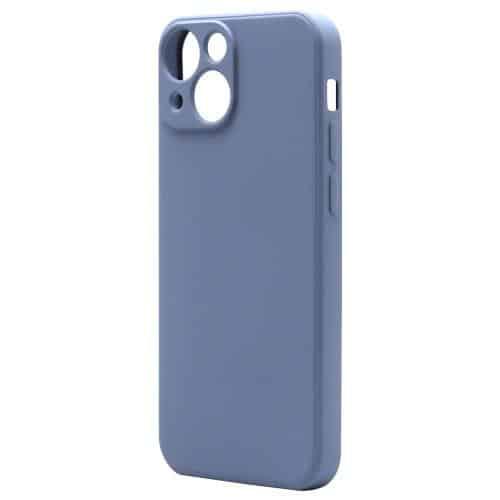 Θήκη Liquid Silicon inos Apple iPhone 13 mini L-Cover Γκρι-Μπλε