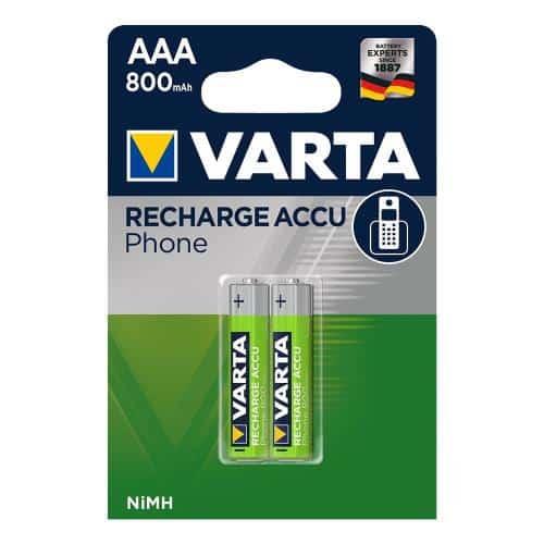Μπαταρία Επαναφορτιζόμενη Varta AAA 800mAh NiMH Phone Power (2 τεμ.)