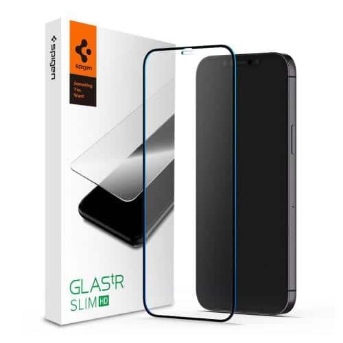Tempered Glass Full Face Spigen Glas.TR Slim HD FC Apple iPhone 12 Pro Max Black (1 pc)