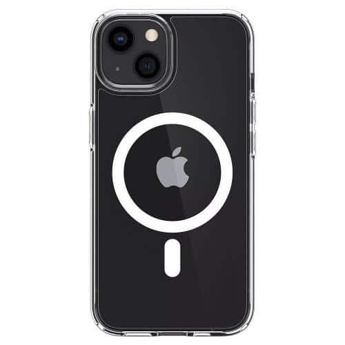Θήκη TPU & PC Spigen Ultra Hybrid Mag Magsafe Apple iPhone 13 mini Διάφανο-Λευκό