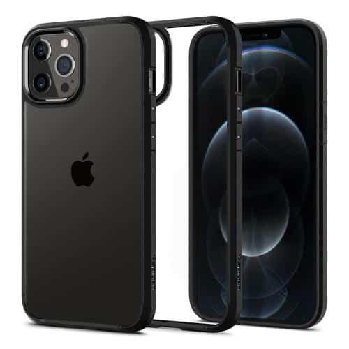 TPU & PC Back Cover Case Spigen Ultra Hybrid Apple iPhone 12/ 12 Pro Matte Black