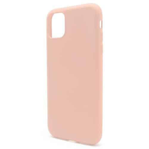 Θήκη Liquid Silicon inos Apple iPhone 11 Pro Max L-Cover Σομόν