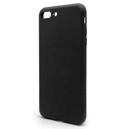 Θήκη Liquid Silicon inos Apple iPhone 7 Plus/ iPhone 8 Plus L-Cover Μαύρο