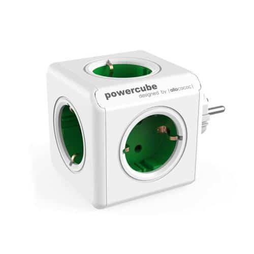 Πολύπριζο Allocacoc PowerCube Extended 5 Θέσεων Πράσινο
