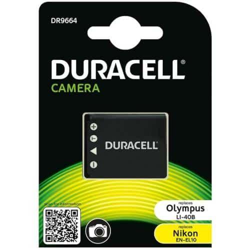 Camera Battery Duracell DR9664 for Olympus LI-40B & Nikon EN-EL10 3.7V 700mAh (1 pc)