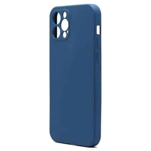 Θήκη Liquid Silicon inos Apple iPhone 12 Pro L-Cover Μπλε Ραφ