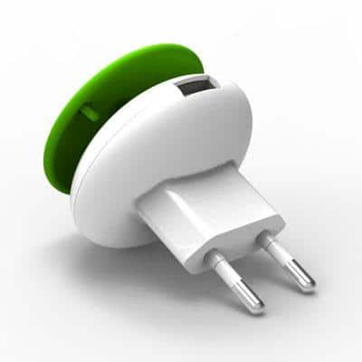 Φορτιστής Ταξιδίου Osungo Mushroom GreenZERO με Έξοδο USB 5V/1.0A Λευκό-Πράσινο